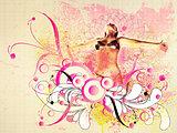 Summer floral girl