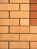 Two colors brick wall