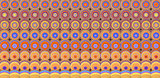 3d abstract tiled mosaic background in orange yellow purple