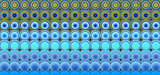 3d abstract tiled mosaic background in blue yellow green