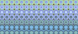 3d abstract tiled mosaic background in purple green blue