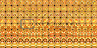3d abstract tiled mosaic background in yellow brown orange