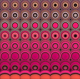 3d abstract tiled mosaic background in pink magenta orange