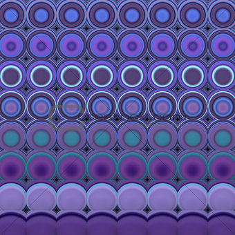 3d abstract tiled mosaic background in purple