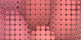 3d abstract tiled mosaic background in pink