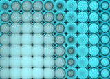 3d abstract tiled mosaic background in blue