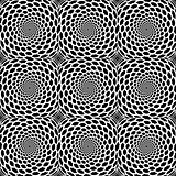 Design seamless monochrome spiral snakeskin pattern