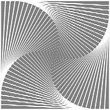 Design monochrome twirl illusion background