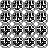 Design seamless monochrome twirl pattern