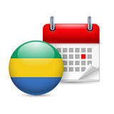 Icon of National Day in  Gabon