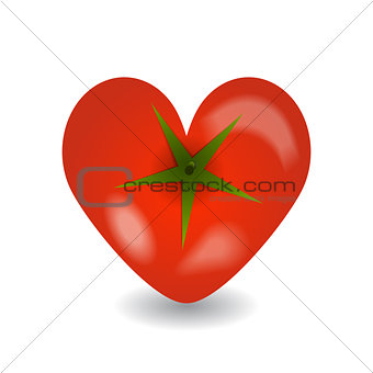 Design tomato heart icon