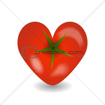 Design tomato heart icon