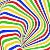 Design colorful vortex movement illusion background