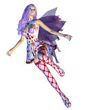 Valentine fairy with violet hair