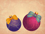 Vintage Christmas balls background