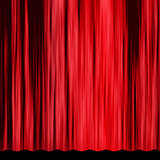 Vintage red curtain