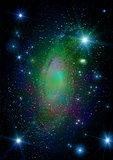 Star field in space