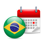 Icon of National Day in Brazil
