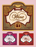 set of labels for different kinds of wine