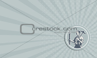 Business card Architect Draftsman Circle Retro