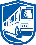 Tourist Coach Shuttle Bus Travelling Fast Retro