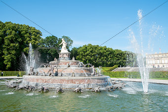 fountain at Herrenchiemsee
