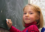 Girl in school