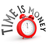 Alarm clock with time is money