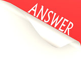 Answer word with white paper