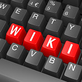 Black keyboard with wiki word