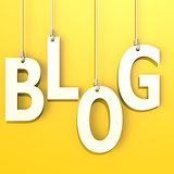 Blog word in orange background
