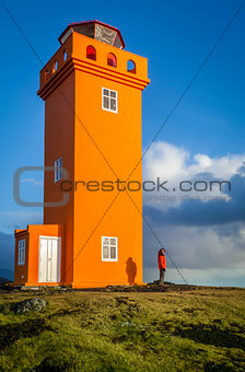 Orange lighthouse