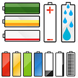 A set of battery graphics