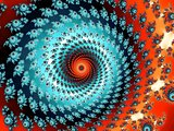 Decorative fractal spiral