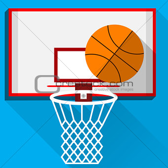Flat vector illustration of play basketball