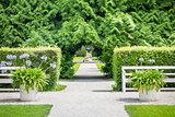 path at Castle Nymphenburg Munich Bavaria Germany