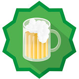 beer badge illustration