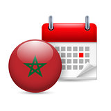 Icon of National Day in Morocco