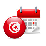 Icon of National Day in Tunisia