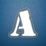 Denim jeans letter A
