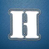 Denim jeans letter H