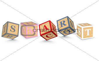 Word SMART written with alphabet blocks