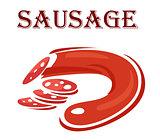 Cartoon sketch of red sausage