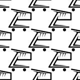 Seamless background pattern of shopping carts
