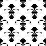 Classical French fleur-de-lis background pattern