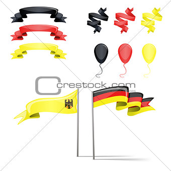 flags germany set