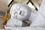 White mable buddha