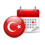 Icon of National Day in Turkey