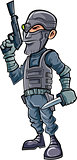 Balck ops cartoon character