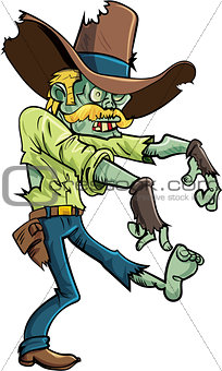Cartoon stalking zombie